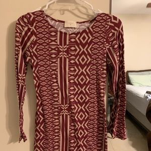 Everly patterned bodycon